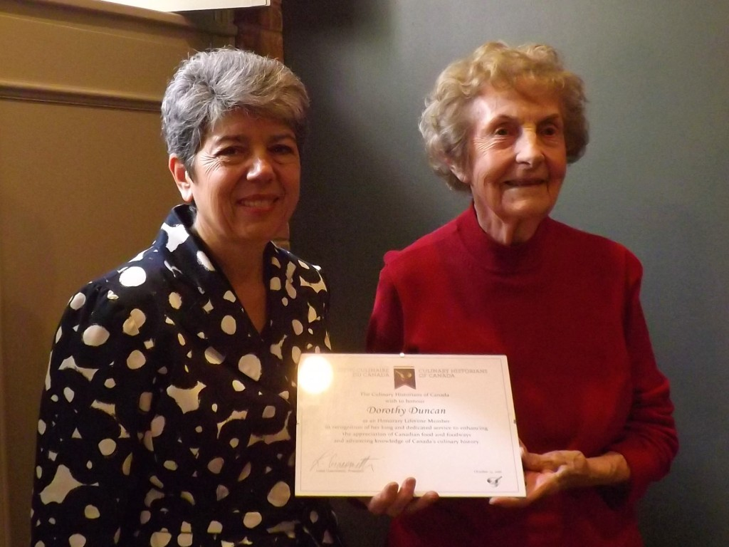 CHC President Luisa Giacometti with Honorary Lifetime Member Dorothy Duncan