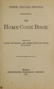The Home Cook Book Ladies of Toronto